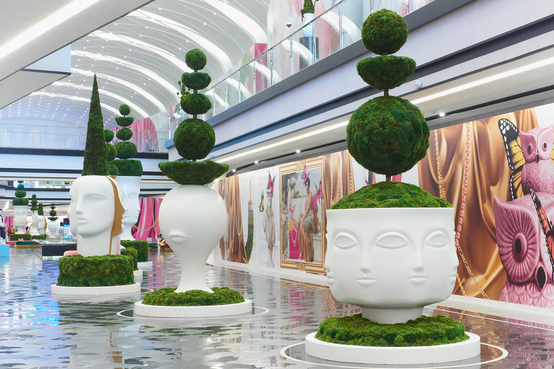 Moss mural in New York
