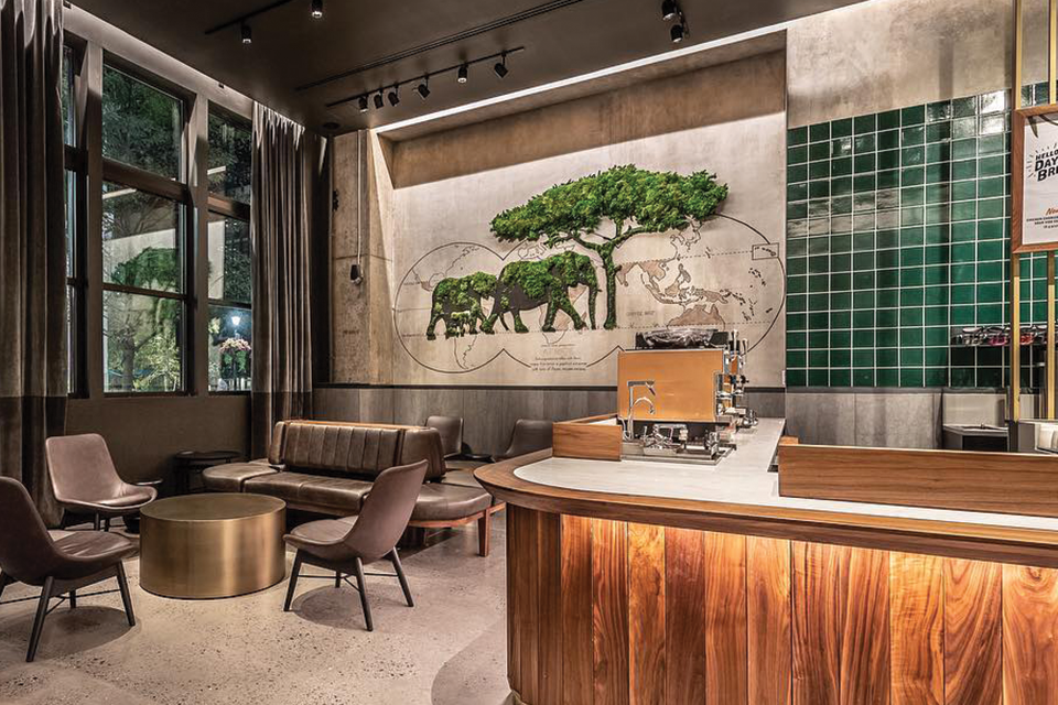 Moss Wall Art And 3d Moss Sculpture At Starbucks Miami