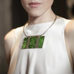 Isabel Englebert + Plant the Future Silver Necklace – Moss Triptych