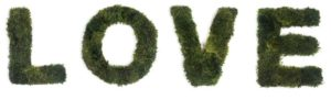 LOVE moss sign for yoga room decor